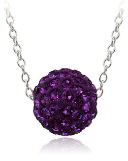 Crystal Studded Pendant Necklace