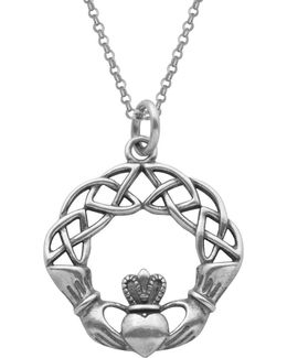 Claddagh Celtic Knot Pendant Necklace