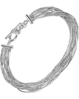 Liquid Strands Toggle Bracelet