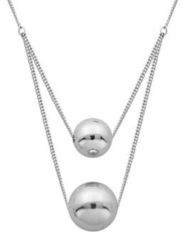 High Polished Layered Ball Necklace