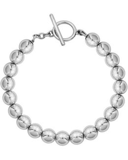 High Polished Ball Toggle Bracelet