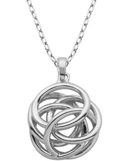 High Polished Geometric Knot Pendant Necklace
