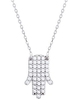 Cubic Zirconia Hamsa Necklace
