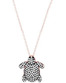 Cubic Zirconia Turtle Necklace