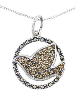 Crystal Bird Pendant Necklace