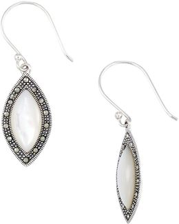 Mother-of-pearl Marquise Shaped Drop Earrings