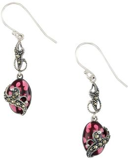 Marcasite And Sterling Silver Drop Earrings
