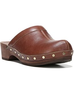Original Leather And Wooden Mules
