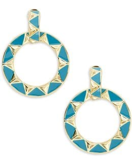 Delta Studded Hoop Earrings