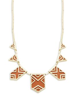 Goldtone Geo Station Necklace