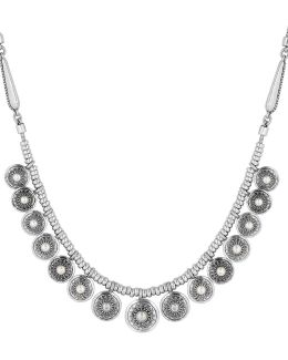 Silvertone Freshwater Pearl Collar Necklace