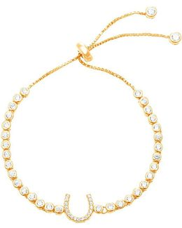 Cubic Zirconia Horshoe Station Bracelet