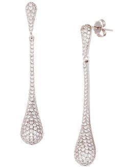 Dangling Cubic Zirconia Teardrop Earrings