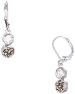 Sterling Silver Circle Flower Earrings