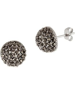 Sterling Silver Convex Circle Dome Earrings