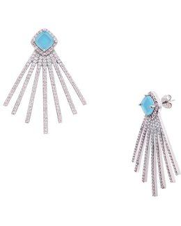 Spike Multi-bar Center Stone Earrings