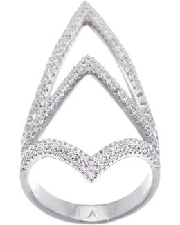 Cubic Zirconia Open Pointy Ring
