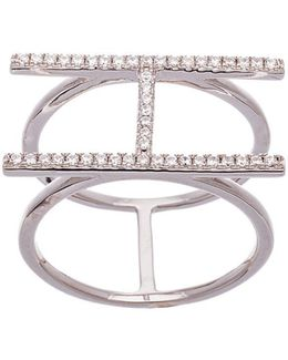 Double Strand Cubic Zirconia H Ring