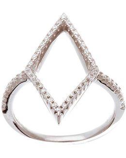 Cubic Zirconia Open Diamond Station Ring
