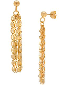 Goldtone Chain Tassel Earrings