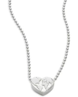 Activist Heart Globe Necklace