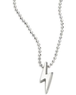 Lightning Bolt Sterling Silver Necklace