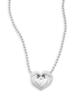 Angel Heart Sterling Silver Necklace