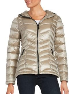 Short Packable Down Puffer Coat