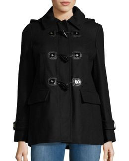 Petite Wool-blend Toggle Coat