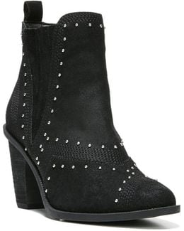 Dina Studded Suede Ankle Boots