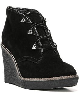 Ophelia Suede Wedge Bootie