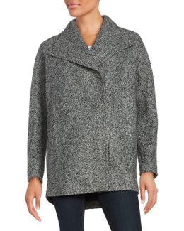Marled Asymmetrical Coat