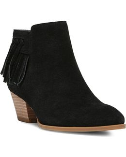 Gerri Fringed Suede Ankle Boots