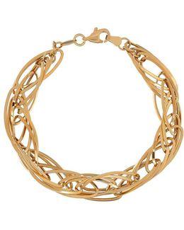 14k Yellow Gold Quadruple Interlock Bracelet