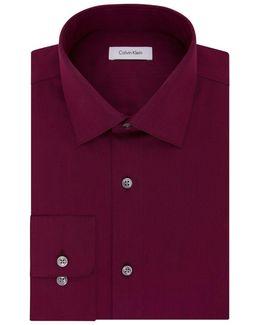 Cotton Spread Collar Dress Shirt