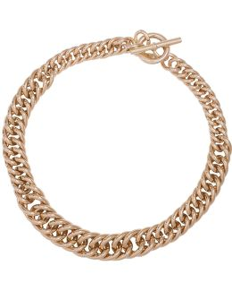 12k Goldplated Curb Chain Necklace