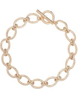 12k Goldplated Brass Oval Link Necklace