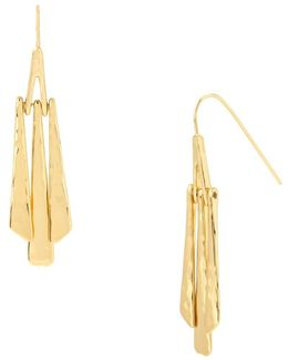 Hammered Texture Geometric Stick Linear Earrings