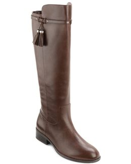 Marsalis - Wide Calf Leather Riding Boots