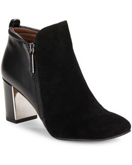 Coralie Suede And Leather Booties