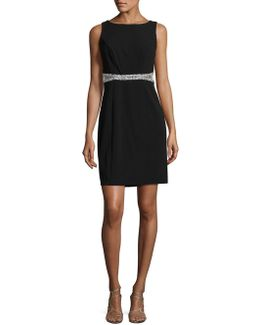 Sparkle Trim Sheath Dress