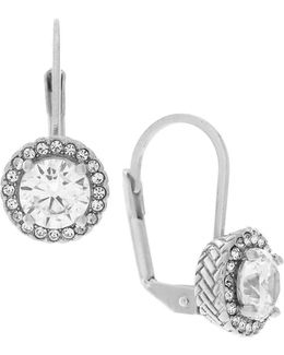 Cubic Zirconia Rhodium-plated Brass Earrings