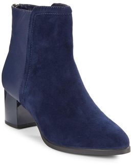 Planta Leather And Suede Ankle Boots