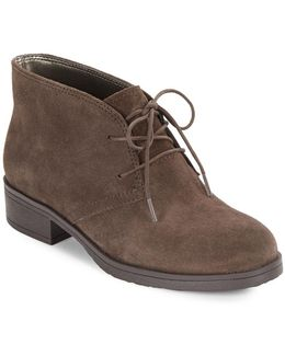 Talon Suede Lace-up Booties