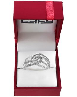 Classique 0.98 Tcw Diamonds And 14k White Gold Ring