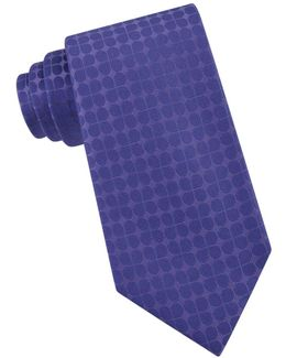 Clover-patterned Silk Tie