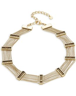 Multi-row Chainlink Choker Necklace