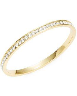 Clem Narrow Crystal Band Bangle Bracelet