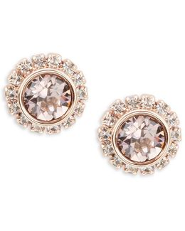 Sully Crystal Chain Stud Earrings