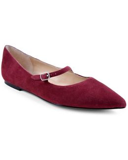 Frazier Suede Mary Jane Flats